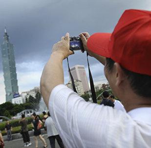 大陆旅客在台北