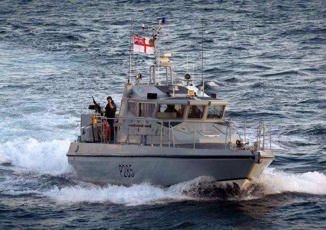 """英国海军舰队船只""""HMS Sabre""""号"""