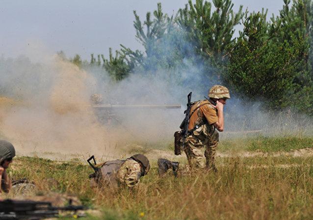乌克兰强力人员指责民兵射击