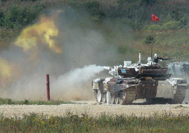 俄罗斯、哈萨克斯坦与中国在国际军事比赛-2016中领先