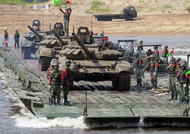 俄中塞军人将举行迷你足球赛和田径赛