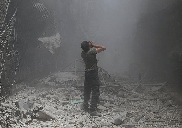 极端分子在叙利亚阿勒颇使用化学武器 导致5 人死亡