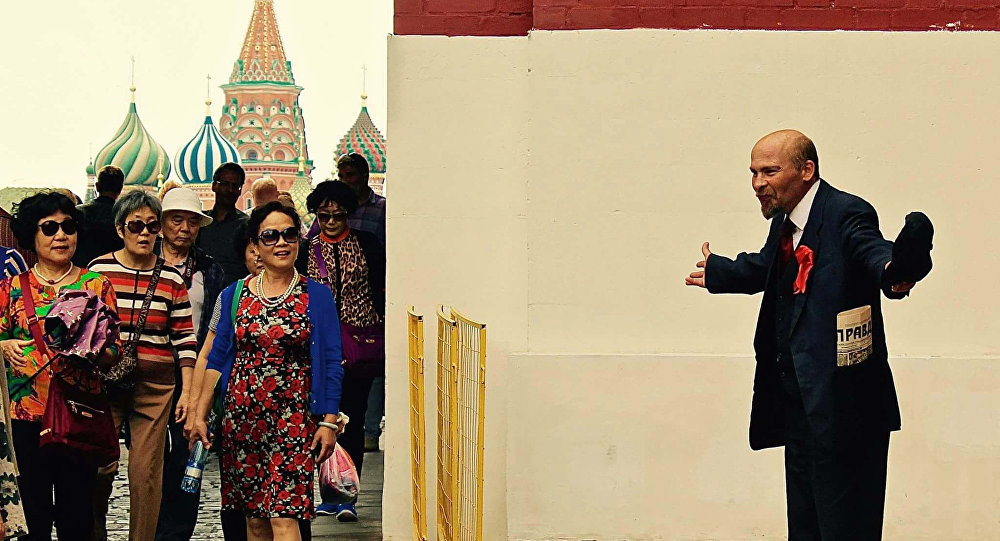 中国旅客在莫斯科