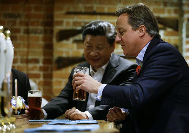 媒体:中国投资者收购习近平和卡梅伦喝啤酒的英国酒吧