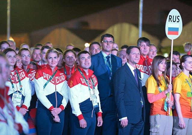Церемония поднятия флагов в Олимпийской деревне