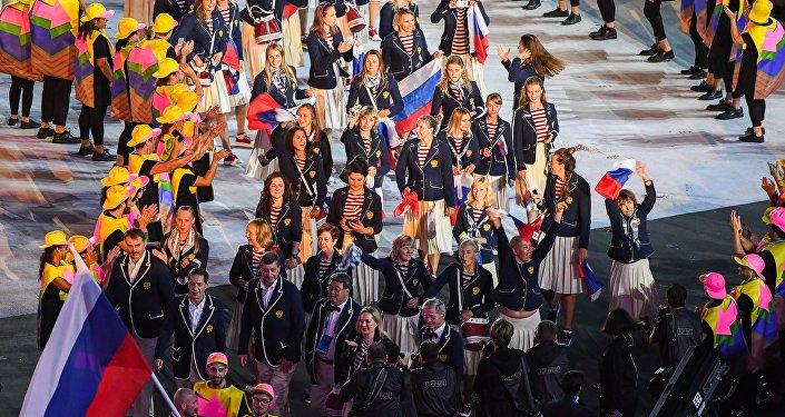 里约奥运会开幕式运动员入场仪式结束图片
