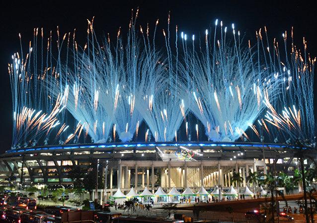 巴西代总统米歇尔·特梅尔宣布2016年里约热内卢第31届奥运会开幕