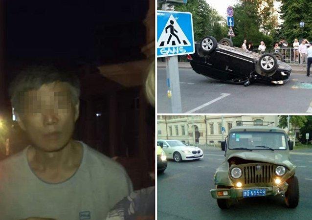 一名中国人在喀山驾越野车撞翻一辆丰田