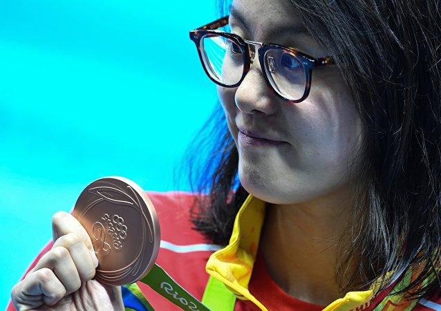 中国奥运代表团在第3个比赛日共收获2枚金牌