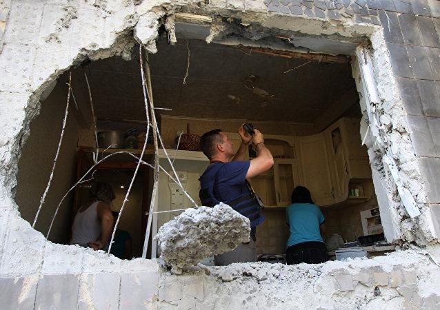 乌克兰强力人员称一昼夜间顿巴斯民兵开火47次