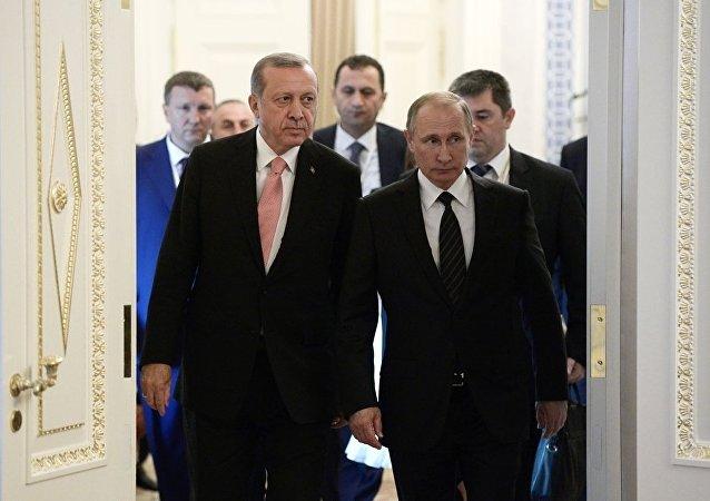 俄总统普京和土耳其总统埃尔多安