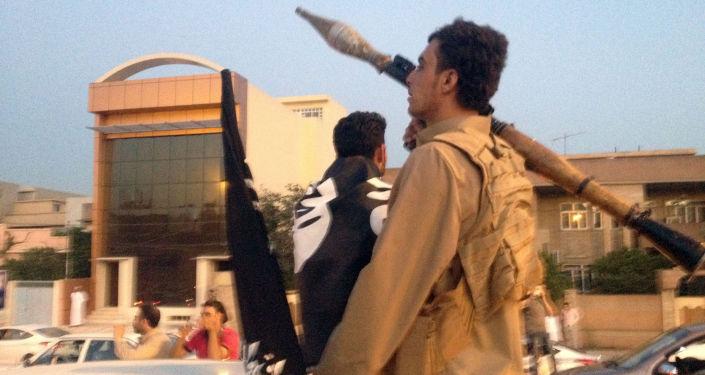 摩苏尔的伊斯兰国组织恐怖分子