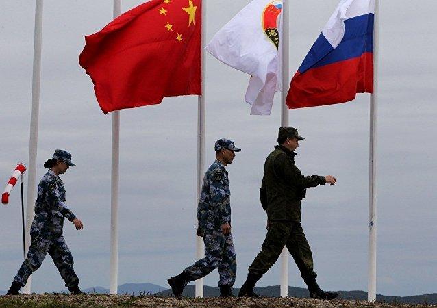 中俄海军联合演习