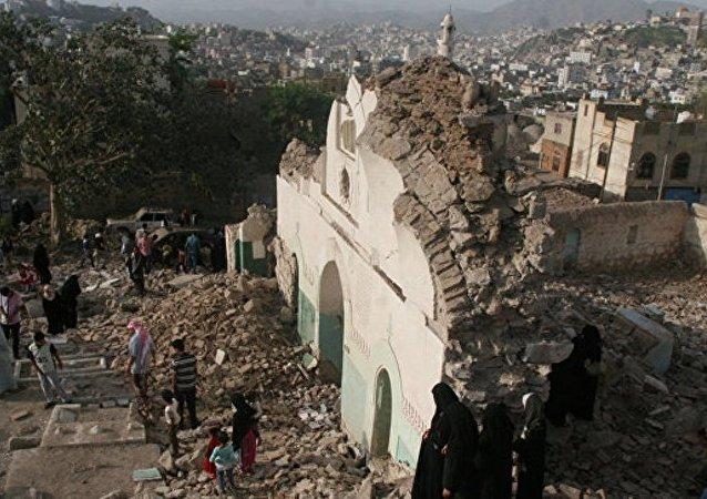 沙特防空力量击落从也门发射的弹道导弹