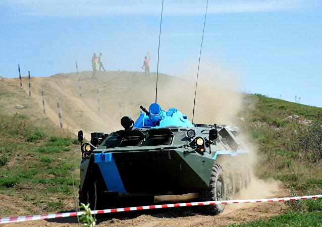 核生化侦察队比赛最后阶段8月11日在俄雅罗斯拉夫尔州开始