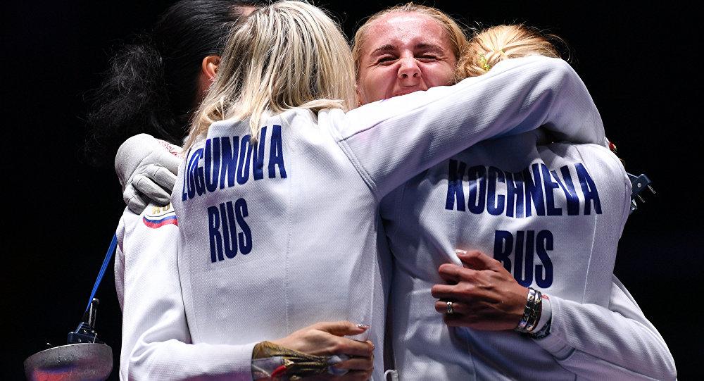 俄获里约奥运会女子重剑团体铜牌