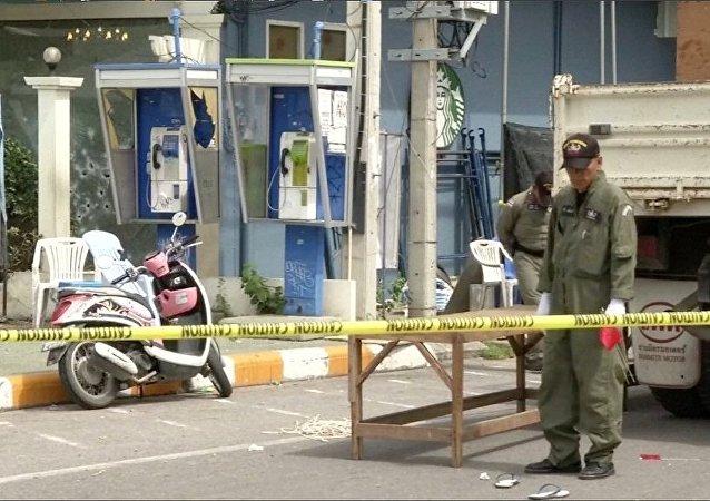 泰国18起爆炸造成两名武装分子丧生 两名警察受伤