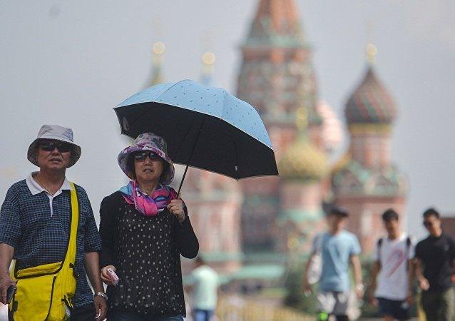 中国旅客在红场