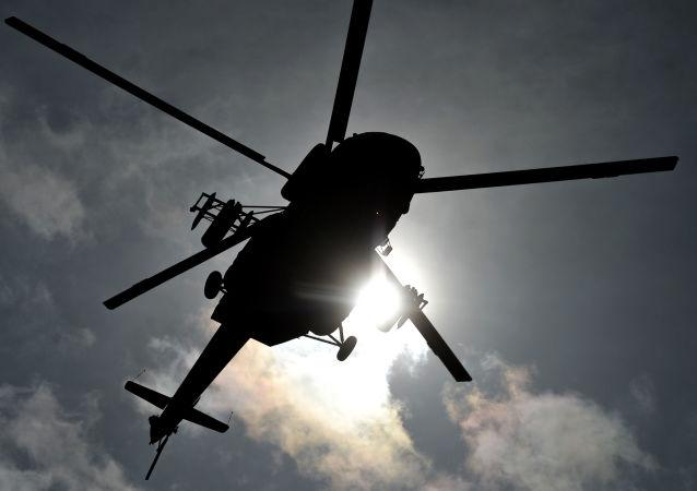 克拉斯诺亚尔斯克坠毁的米-8直升机撞上另一架直升机的悬挂物