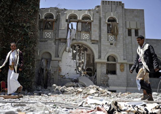 联军在也门的最近一次空袭/资料图片/