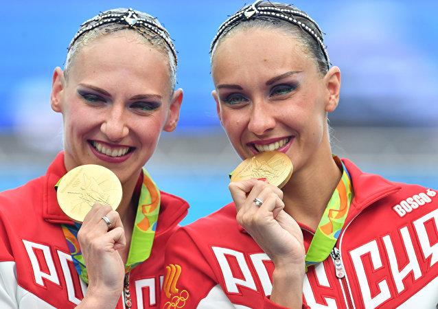 俄双人花样游泳名将在里约为俄代表团添第12金