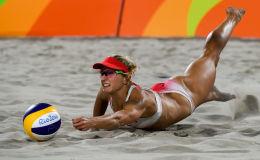 里约奥运会女子沙滩排球精彩时刻