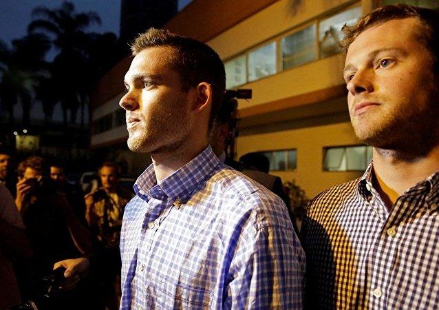 美国运动员本茨和康格获准离开巴西