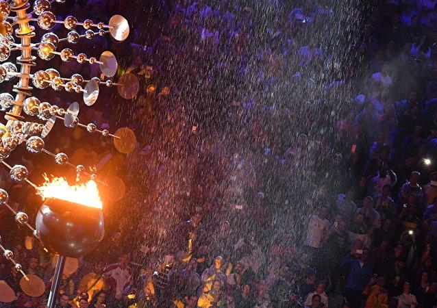 2016年第31届奥运会圣火在里约热内卢熄灭
