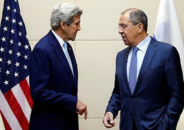 俄美外长在日内瓦会谈 讨论打击在叙恐怖分子