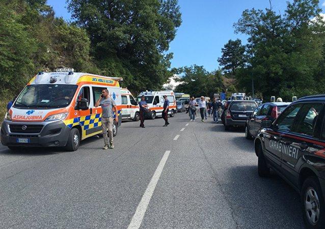 媒体:一名儿童在意大利地震中受重伤