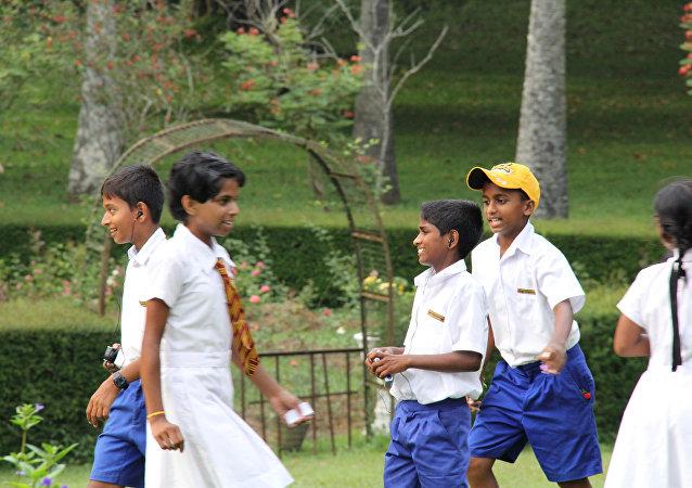 斯里兰卡的孩子们