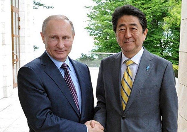 """安倍将与普京在秘鲁的会晤称为""""宝贵机会"""""""
