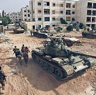 """叙军与俄空天军并肩消灭""""支持阵线""""坦克、步兵战车和百名武装分子"""