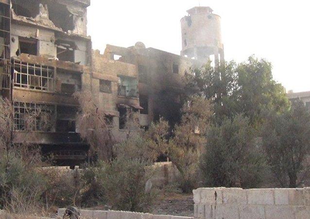"""""""努斯拉阵线""""狙击手在叙利亚北部伊德利卜省Al-Fuah地区不惜残害儿童"""
