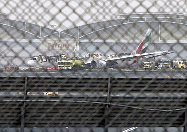 报告:迪拜机场迫降着火客机飞行员曾试图再飞一圈