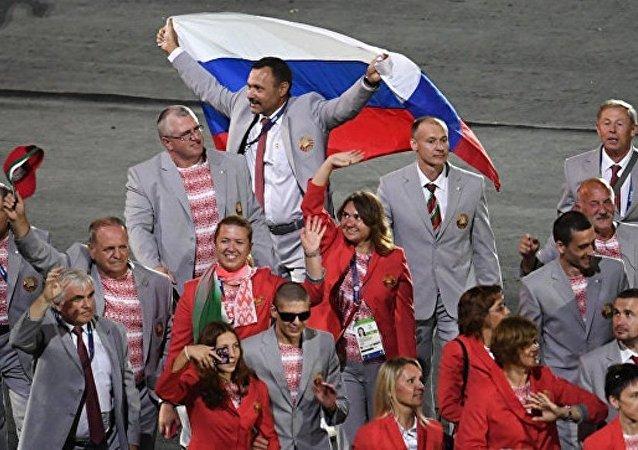 克宫:白俄罗斯残奥运动员将俄国旗带入里约残奥会开幕式值得称赞
