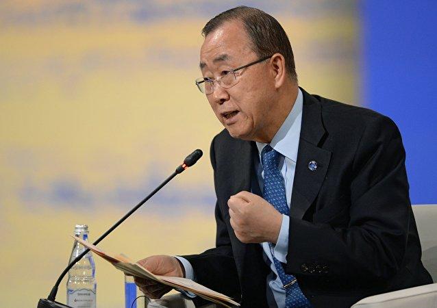 潘基文谴责朝鲜核试验 称其违反安理会决议