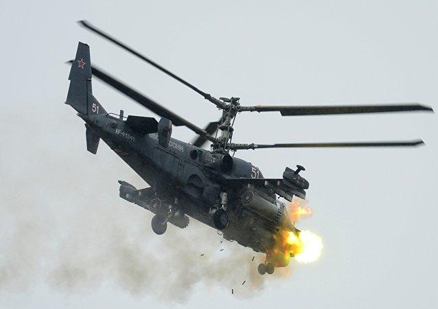 """""""短吻鳄""""卡-52攻击直升机"""