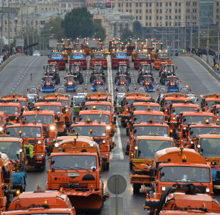 首届莫斯科城市汽车游行