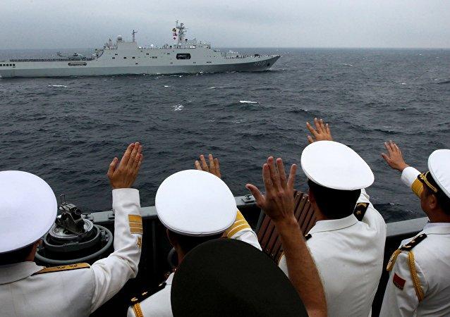 """专家:俄中""""海上联合""""军演旨在维护亚太地区稳定"""