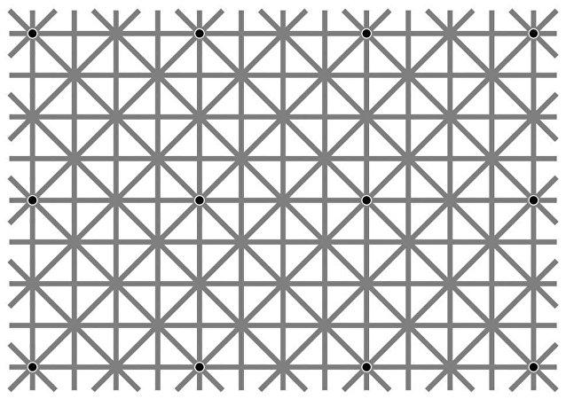网络用户为看带12个黑点的视错觉图像绞尽脑汁