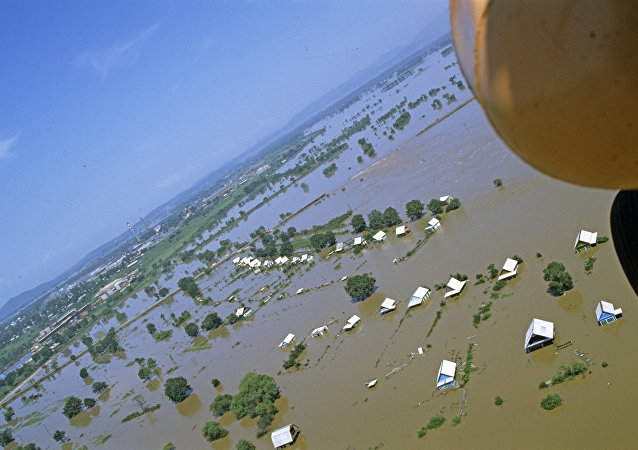俄滨海边疆区抗洪救灾