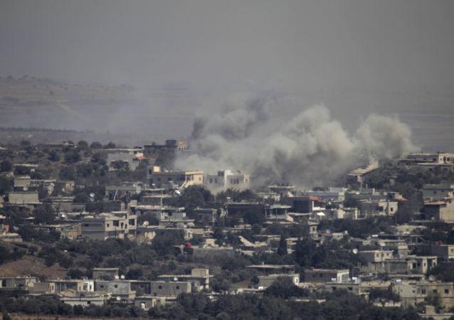 以色列导弹击毁叙利亚一些军事设施和弹药库