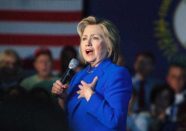 媒体:希拉里竞选美国总统的支持率领先特朗普两个百分点