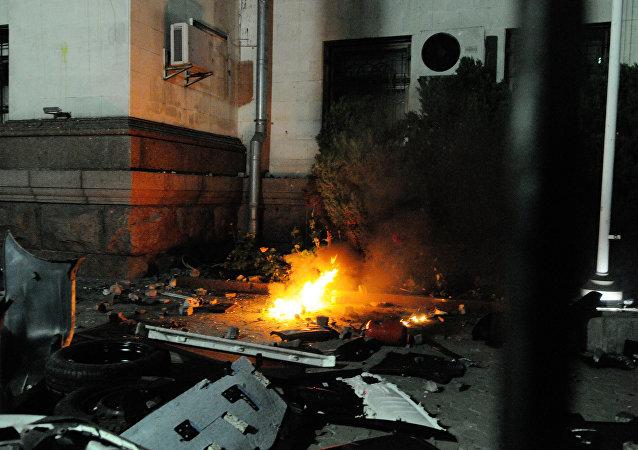 俄罗斯驻乌克兰大使馆:袭击/资料图片/