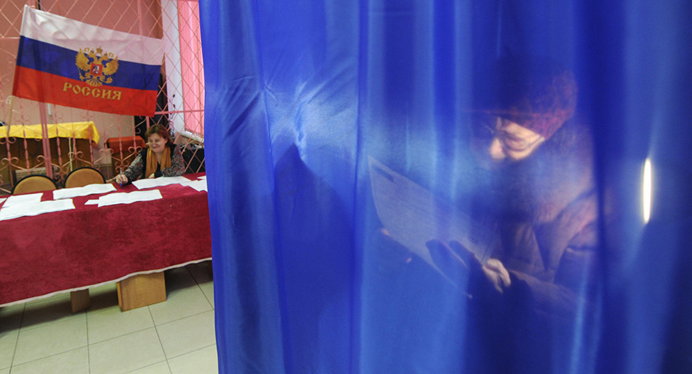 俄中部地區國家杜馬選舉投票點開放