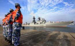 俄羅斯軍艦在俄中「海上聯合-2016」軍演開始前抵達湛江港口