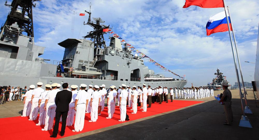 中国舰队将于下周中抵达波罗的斯克以进行俄中联合海军军演