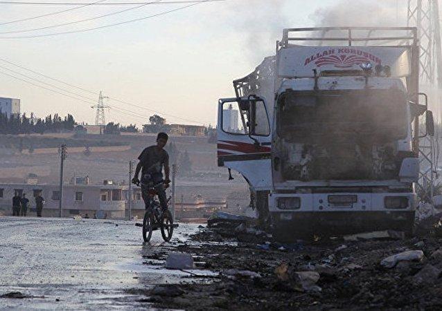俄国防部:联军无人机曾出现在联合国人道援助车队遇袭地点