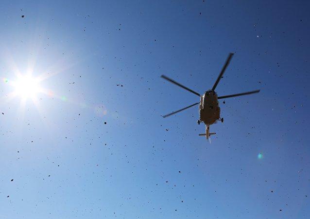 俄紧急情况部米-8直升机在莫斯科州坠毁